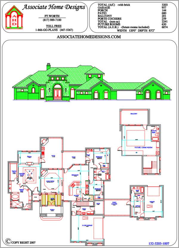 3 bedrooms, 3-5 bathrooms house plan