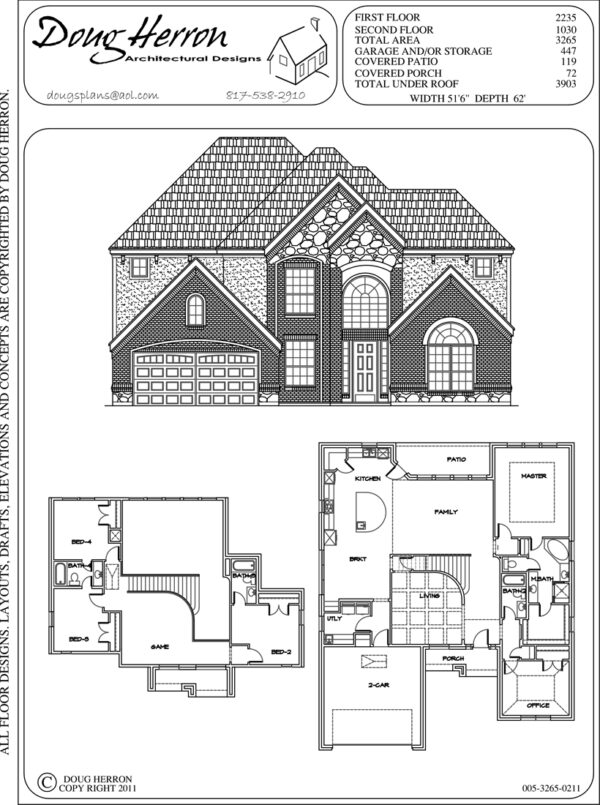 4 bedrooms, 4 bathrooms house plan