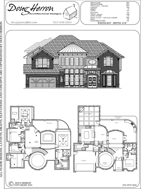 4 bedrooms, 4-5 bathrooms house plan