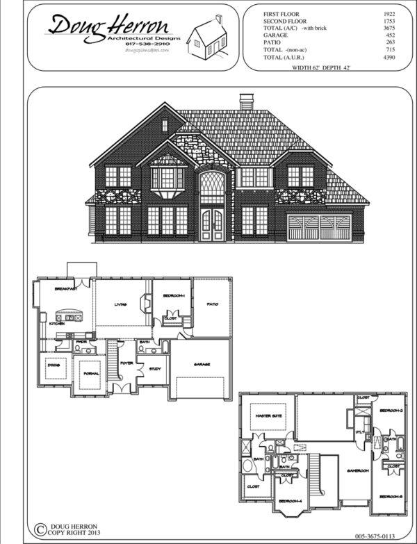 5 bedrooms, 4-5 bathrooms house plan
