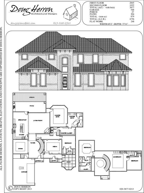 4 bedrooms, 4-5 bathrooms house plan