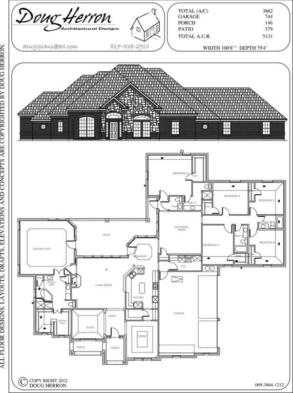 6 bedrooms, 4-5 bathrooms house plan