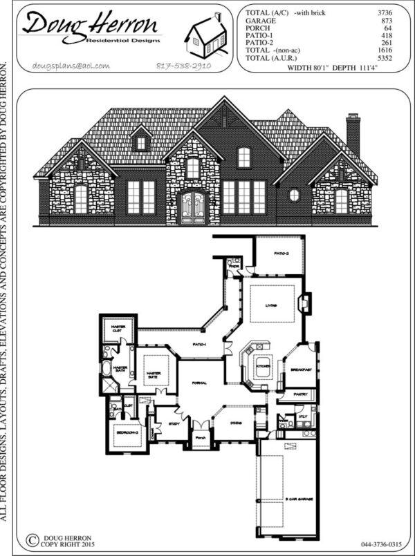 2 bedrooms, 2-5 bathrooms house plan