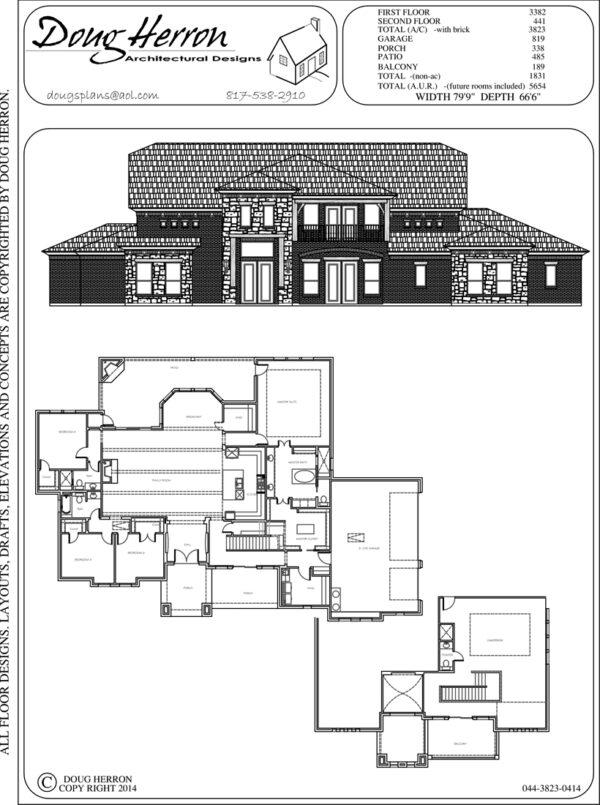 4 bedrooms, 3-5 bathrooms house plan