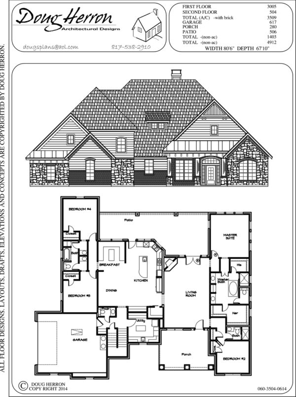 4 bedrooms, 3-5 bathrooms house plan