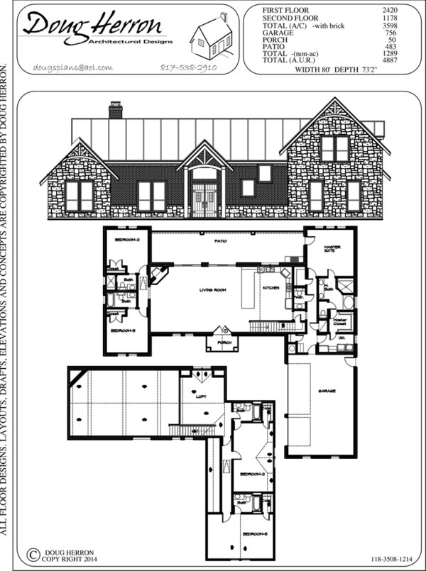 5 bedrooms, 5-5 bathrooms house plan