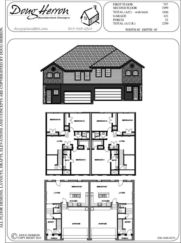 6 bedrooms, 4.5 bathrooms house plan