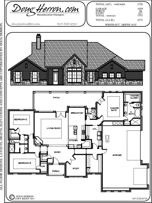 3 bedrooms, 2.5 bathrooms house plan
