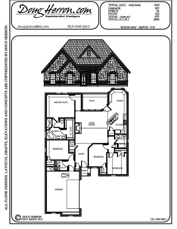 1896 bedrooms, 325 bathrooms house plan