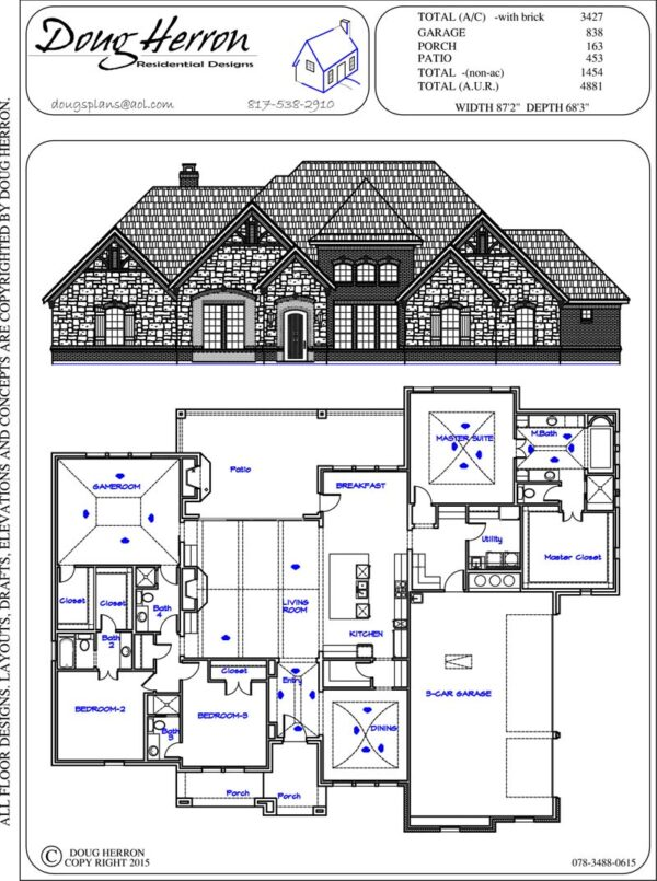 200 Square Feet 1 Bedroom 1 Bathroom 0 Garage Bungalow Cabin 39261 in addition 2525 Square Feet 4 Bedrooms 3 Bathroom European House Plans 2 Garage 25550 as well One Level House Plans Interesting Storage Decoration For One Level House Plans Gallery likewise 069 1699 0416 further Plano De Duplex De 3 Dormitorios Con Garaje 2. on 3200 square foot house plans