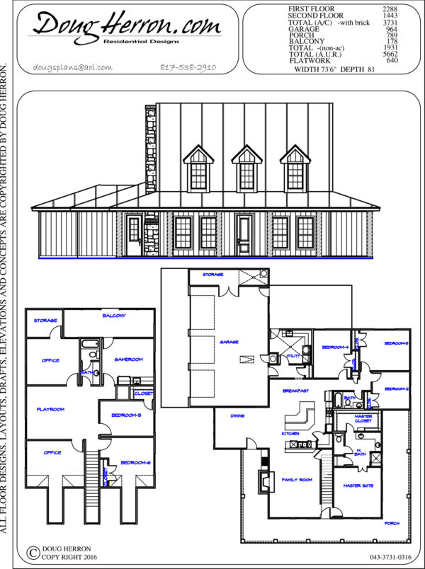 6 bedrooms, 3 bathrooms house plan