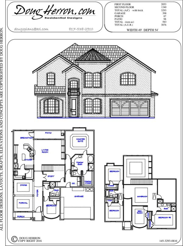 6 bedrooms, 4 bathrooms house plan