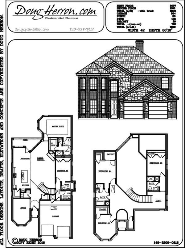 5 bedrooms, 4 bathrooms house plan