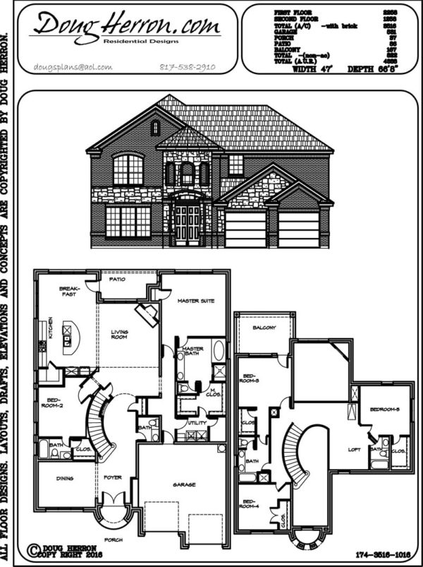 5 bedrooms, 4.5 bathrooms house plan