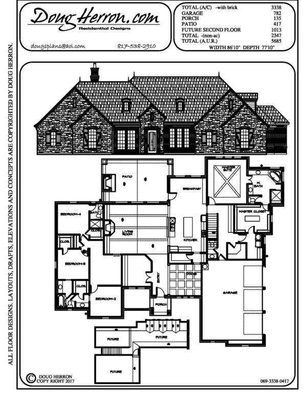 1896 bedrooms, 15 bathrooms house plan