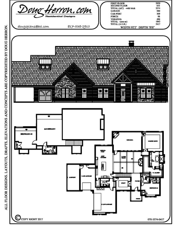 1893 bedrooms, 15 bathrooms house plan