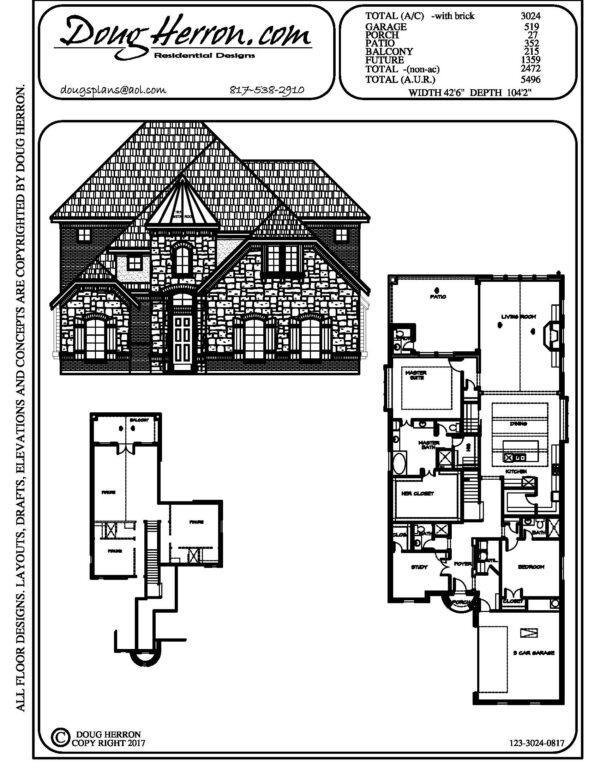 1893 bedrooms, 326 bathrooms house plan