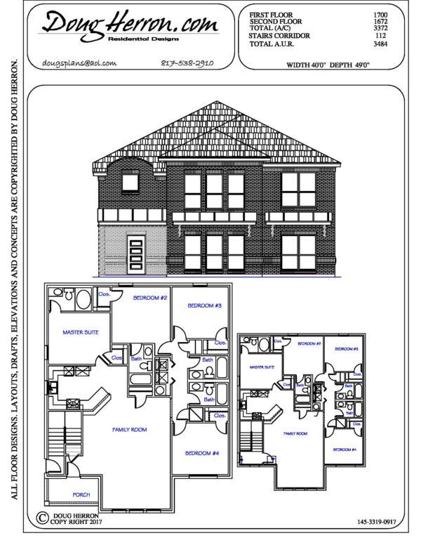 8 bedrooms, 8 bathrooms house plan
