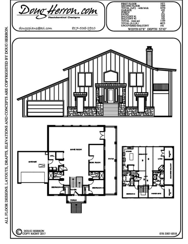 4 bedrooms, 4.5 bathrooms house plan