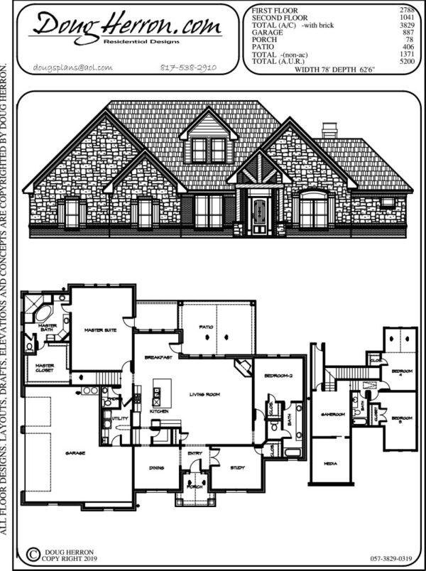 5 bedrooms, 3.5 bathrooms house plan