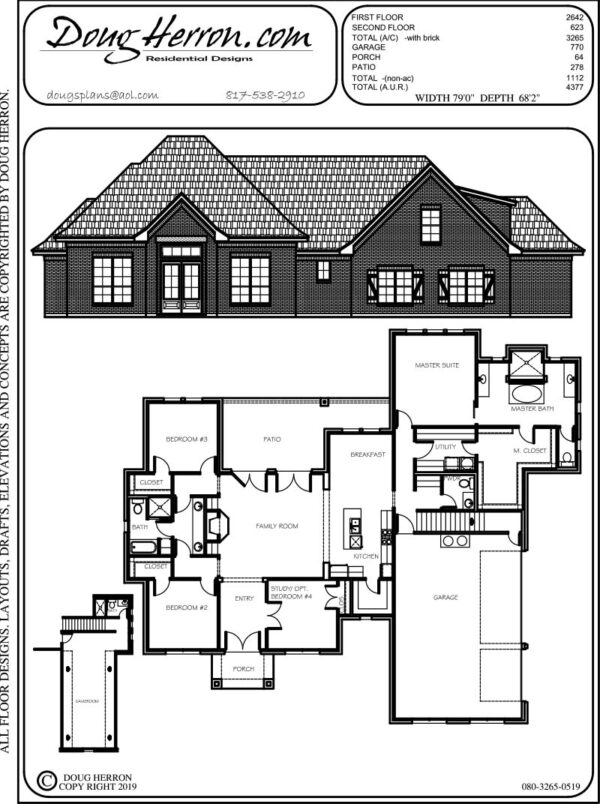 4 bedrooms, 3.5 bathrooms house plan