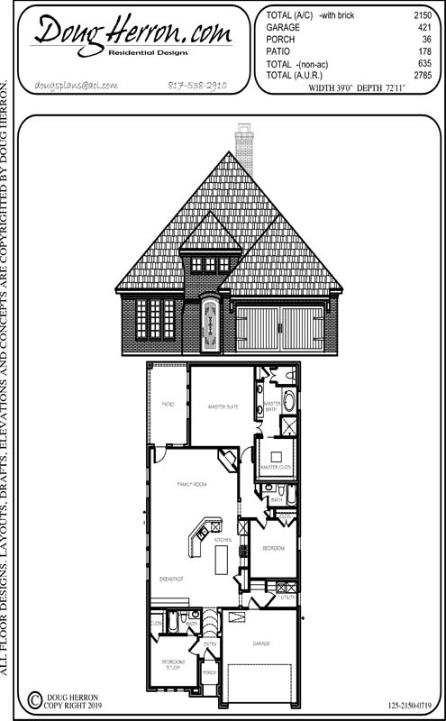 3 bedrooms, 3 bathrooms house plan