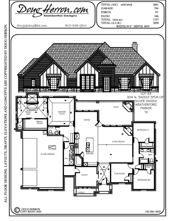 5 bedrooms, 2.5 bathrooms house plan