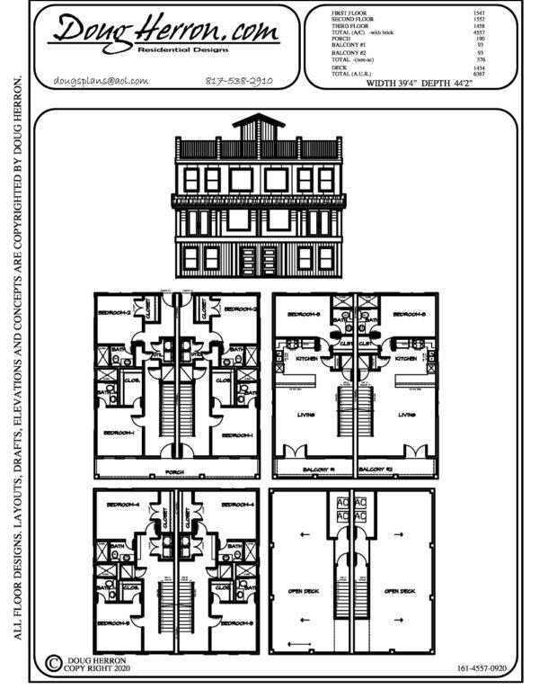 10 bedrooms, 10 bathrooms house plan