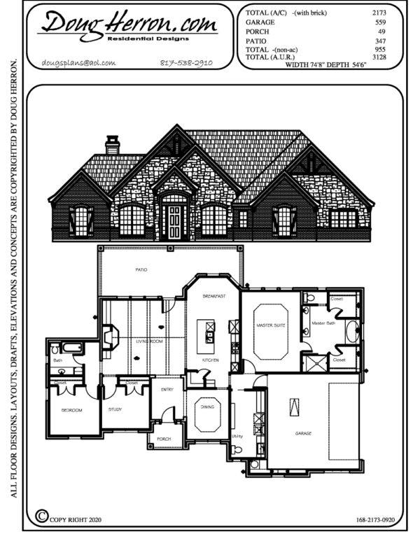 3 bedrooms, 2.5 bathrooms house plan