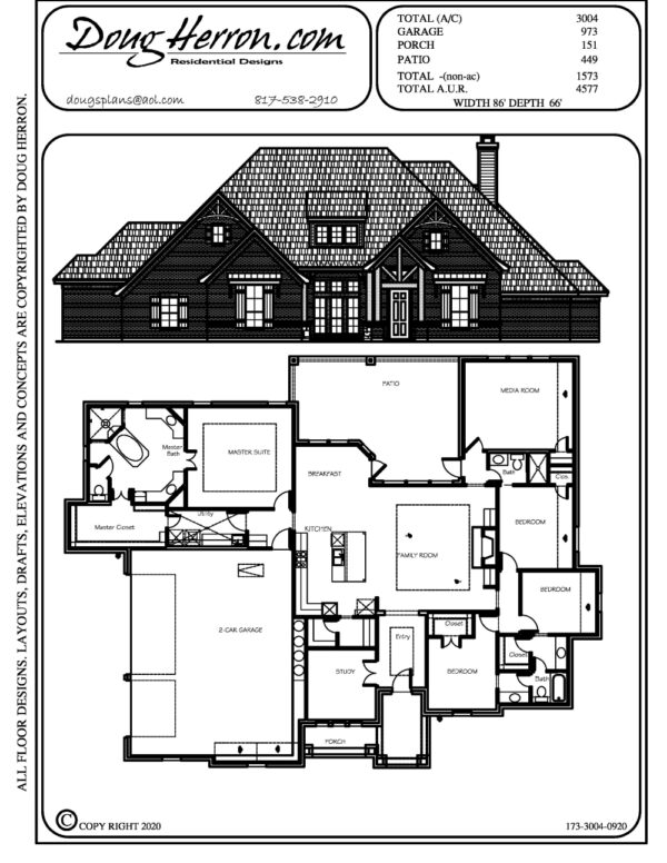 5 bedrooms, 3 bathrooms house plan