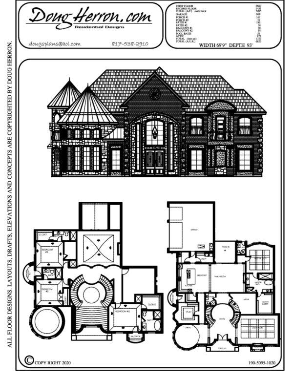 5 bedrooms, 5.5 bathrooms house plan