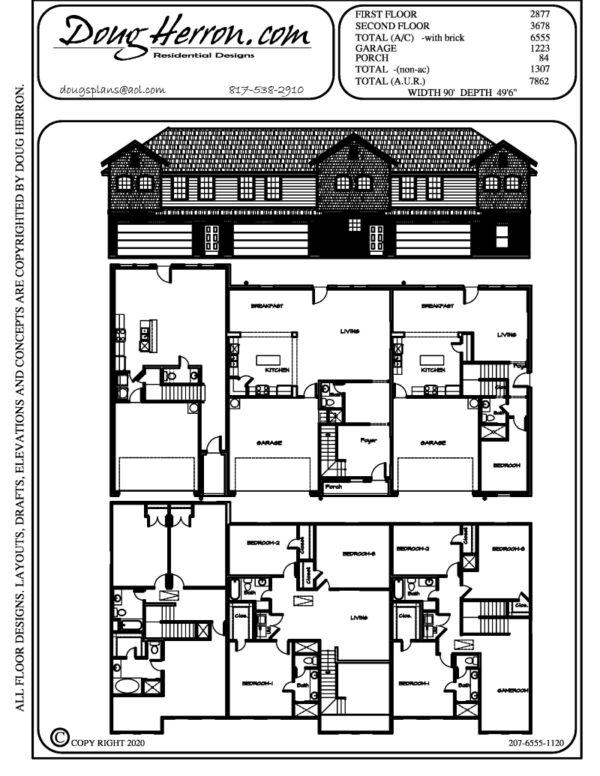 9 bedrooms, 7.5 bathrooms house plan