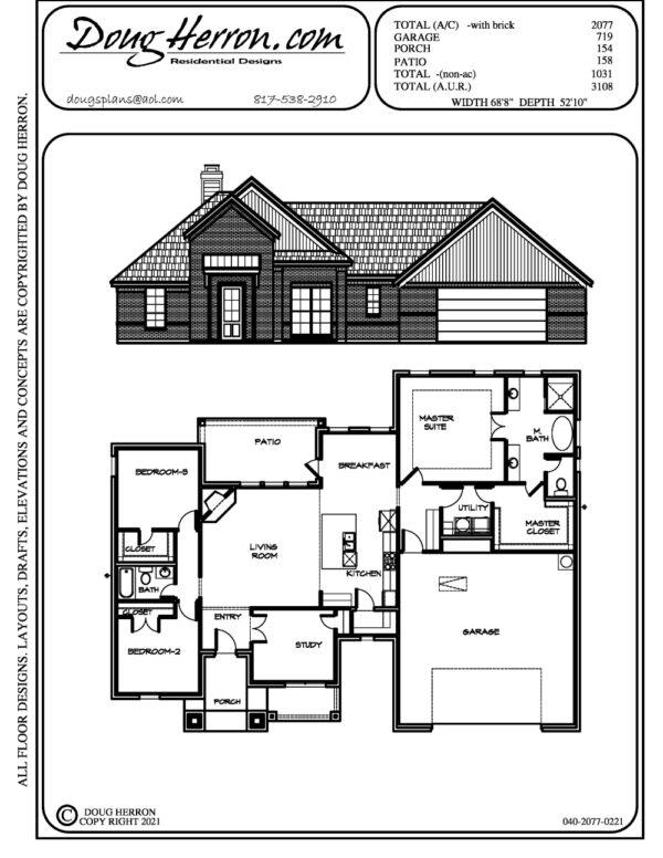 5 bedrooms, 2 bathrooms house plan