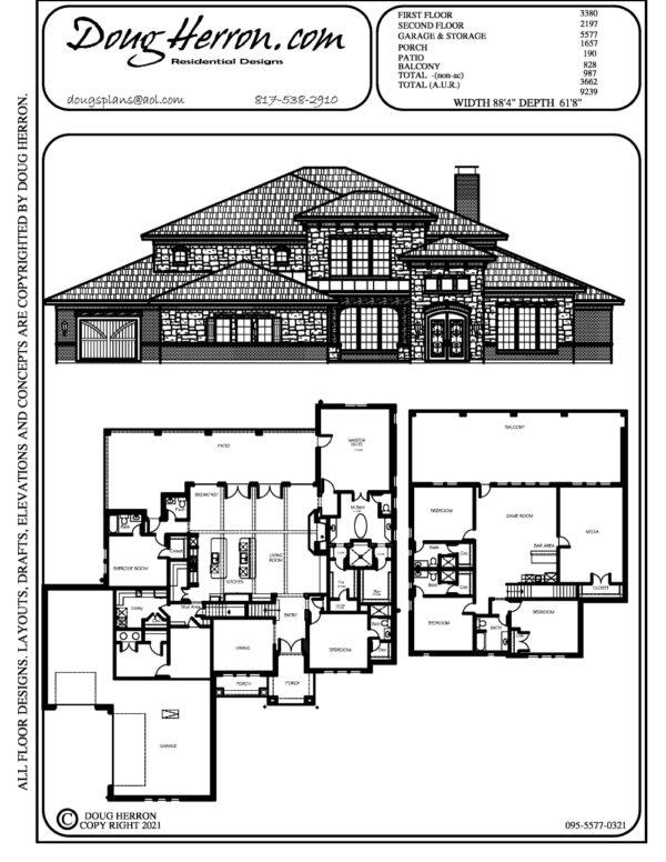 5 bedrooms, 6.5 bathrooms house plan